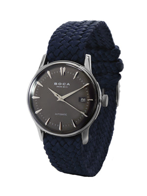 Riviera Black Automatic - Night Blue Wristband - BOCA MMXII - Official website