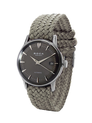 Riviera Black Automatic - Grey Wristband - BOCA MMXII - Official website