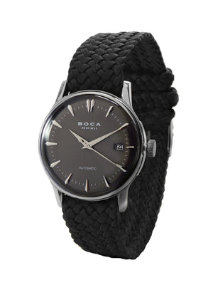 Riviera Black Automatic - Black Wristband - BOCA MMXII - Official website