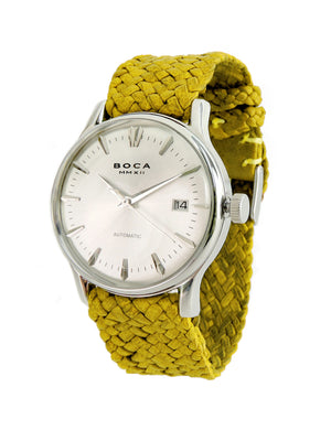 Riviera Silver Automatic - Yellow Wristband - BOCA MMXII - Official website