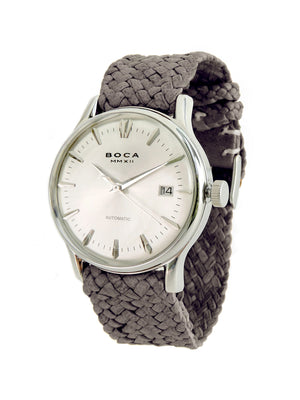 Riviera Silver Automatic - Grey Wristband - BOCA MMXII - Official website