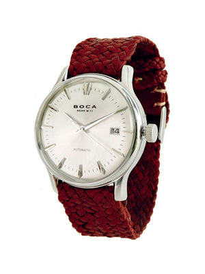 Riviera Silver Automatic - Red Wristband - BOCA MMXII - Official website
