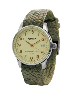 Traveler Beige - Olive Wristband - BOCA MMXII - Official website