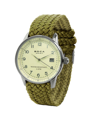 Traveler Silver - Olive Wristband - BOCA MMXII - Official website