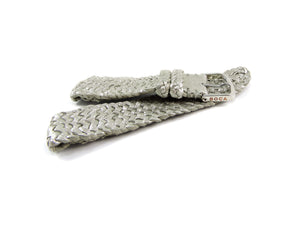 Silver leather watch strap - BOCA MMXII - Official website