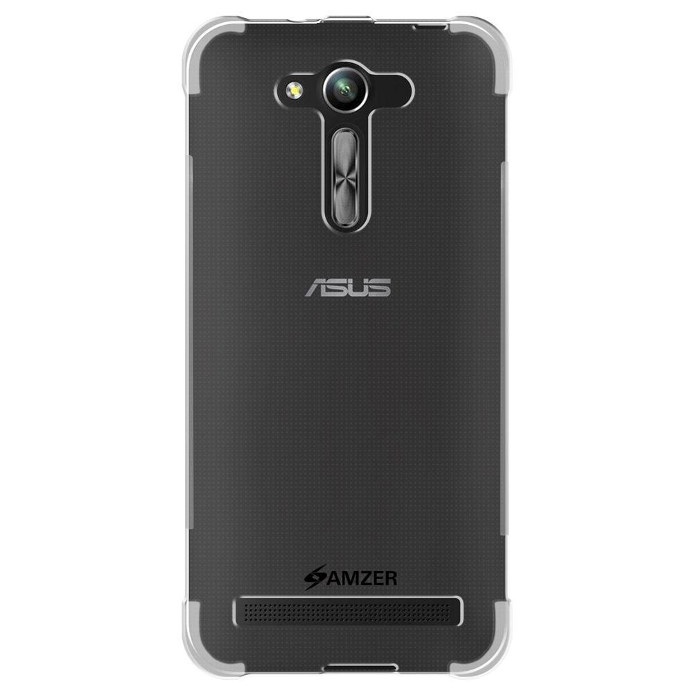 AMZER Pudding Ultra Thin TPU X Protection Shockproof Case for Asus Zenfone Go 4.5 ZB452KG - Clear