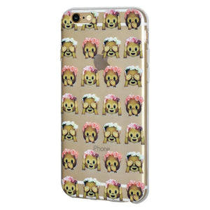 Ultra Thin Protective Soft Gel TPU Skin Case See Speak Hear No Evil Monkeys for iPhone 6 Plus - Clear