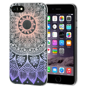 Ultra Thin Protective Cover Soft Gel Shockproof TPU Skin Case Mandala Ombre for iPhone 6 - Clear