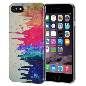 Ultra Thin Protective Cover Soft Gel Shockproof TPU Case Abstract Modern Art for iPhone 6 - Clear