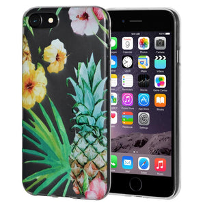 Ultra Thin Protective Cover Soft Gel Shockproof TPU Skin Case Tropical for iPhone 6 Plus - Clear