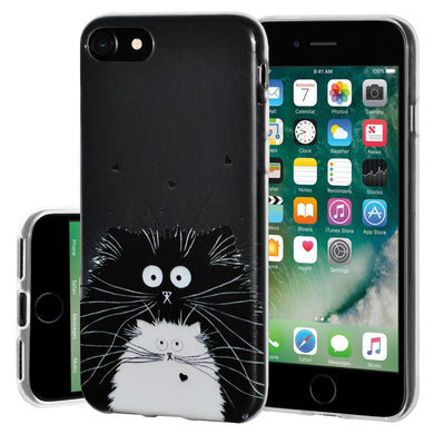 Ultra Thin Protective Cover Soft Gel Shockproof TPU Skin Case Cat for iPhone 7 - Clear