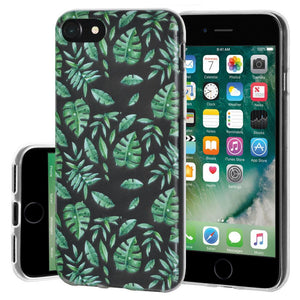 Ultra Thin Protective Cover Soft Gel Shockproof TPU Skin Case Woodland Fern for iPhone 7 - Clear