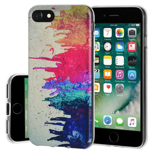 Protective Cover Soft Gel Shockproof TPU Skin Case Abstract Modern Art for iPhone 7 - Clear