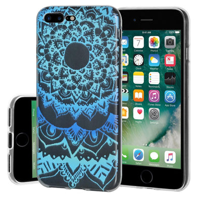 Ultra Thin Protective Cover Soft Shockproof TPU Skin Case Mandala Ocean for iPhone 7 Plus - Clear