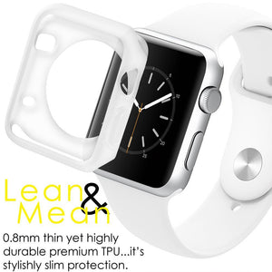 AMZER Shockproof Cover TPU Watch Case for Apple Watch Series 1/2/3 38MM - Clear