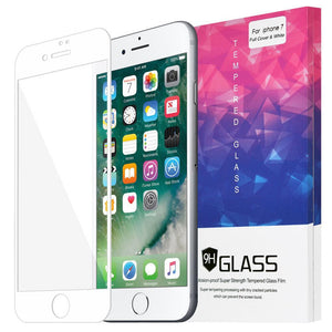 AMZER Kristal Anti Fingerprint Tempered Glass HD Edge2Edge Screen Protector for iPhone 7, iPhone SE 2020 -  White