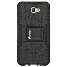 Load image into Gallery viewer, AMZER Shockproof Warrior Hybrid Case for Samsung Galaxy J7 Prime- Black/Black