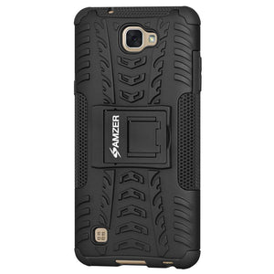 AMZER Shockproof Warrior Hybrid Case for LG X Max LGK240H - Black/Black