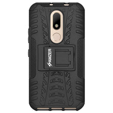 Load image into Gallery viewer, AMZER Shockproof Warrior Hybrid Case for Motorola Moto M - Black/Black