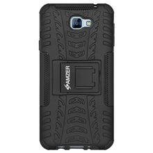 Load image into Gallery viewer, AMZER Shockproof Warrior Hybrid Case for Samsung Galaxy A8 2016 - Black/Black