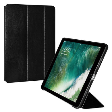 AMZER Shell Portfolio Case - Black Leather Texture for Apple iPad Pro 9.7
