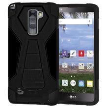 Load image into Gallery viewer, AMZER Dual Layer Hybrid KickStand Case - Black/ Black for LG Stylus 2