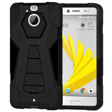 Load image into Gallery viewer, AMZER Dual Layer Hybrid KickStand Case - Black/ Black for HTC 10 Evo