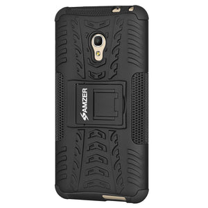 AMZER  Warrior Hybrid Case for Alcatel OneTouch Pixi 4 5 Inch - Black/Black
