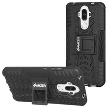 Load image into Gallery viewer, AMZER Shockproof Warrior Hybrid Case for Huawei Mate 9 - Black/Black