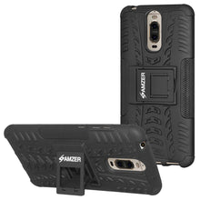 Load image into Gallery viewer, AMZER Shockproof Warrior Hybrid Case for Huawei Mate 9 Pro - Black/Black
