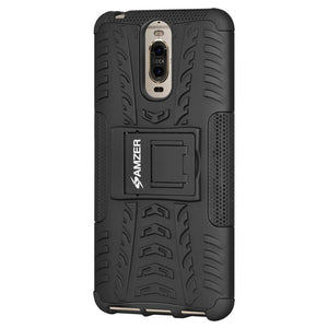 AMZER Shockproof Warrior Hybrid Case for Huawei Mate 9 Pro - Black/Black