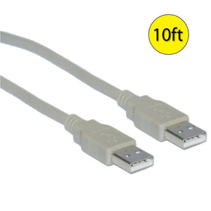 Amzer® USB 2.0 Type-A Male to Type-A Male Extension 10ft Cable - Beige