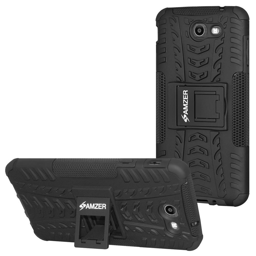 AMZER  Warrior Hybrid Case for Samsung Galaxy Halo SM-J727A - Black/Black