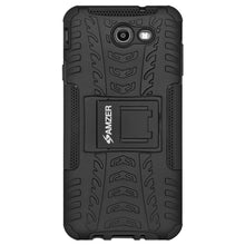 Load image into Gallery viewer, AMZER  Warrior Hybrid Case for Samsung Galaxy Halo SM-J727A - Black/Black