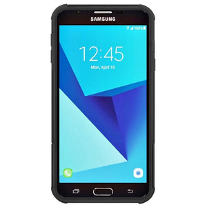 AMZER  Warrior Hybrid Case for Samsung Galaxy Amp Prime 2 - Black/Black