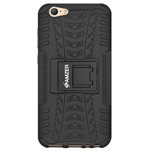 AMZER Shockproof Warrior Hybrid Case for Vivo X9 Plus - Black/Black