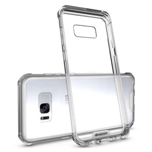SlimGrip Shockproof Hybrid Case with Clear Trim for Samsung Galaxy S8 Plus