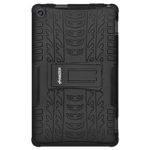Load image into Gallery viewer, AMZER Shockproof Warrior Hybrid Case for Amazon Fire HD 8 2016 - Black/Black