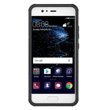 Load image into Gallery viewer, AMZER Shockproof Warrior Hybrid Case for Huawei P10 - Black/Black