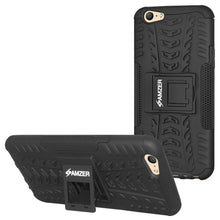 Load image into Gallery viewer, AMZER Shockproof Warrior Hybrid Case for OPPO A57 - Black/Black