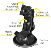 Load image into Gallery viewer, AMZER Suction Cup Mount for Windshield, Dash or Console