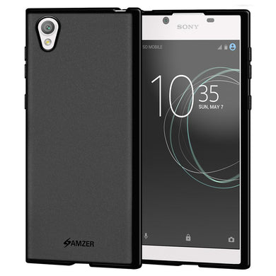 AMZER Shockproof Pudding Soft TPU Skin Case for Sony Xperia L1 - Black