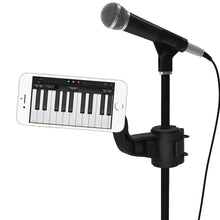 Load image into Gallery viewer, AMZER Universal Magnetic Microphone/ Music Stand Mount - Black for BlackBerry Z10, iPhone 5, Samsung Galaxy Note II GT-N7100