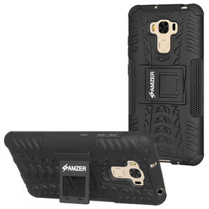 AMZER  Warrior Hybrid Case for Asus ZenFone 3 Max ZC553KL - Black/Black