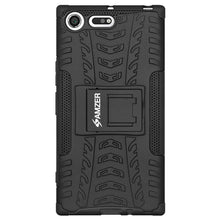 Load image into Gallery viewer, AMZER Shockproof Warrior Hybrid Case for Sony Xperia XZ Premium - Black/Black