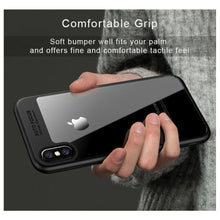 Load image into Gallery viewer, AMZER Bare Hands Hybrid Protection Back Case - Black for iPhone X
