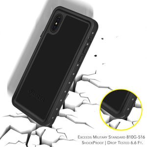 AMZER CRUSTA WaterProof & ShockProof IP68 Certified Full Body Case for iPhone X