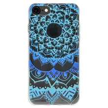 Load image into Gallery viewer, Ultra Thin Protective Cover Soft Gel Shockproof TPU Skin Case Mandala Ocean for iPhone 8 - Clear