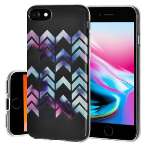 Ultra Thin Protective Cover Soft Gel Shockproof TPU Skin Case Arrow Print for iPhone 8 - Clear