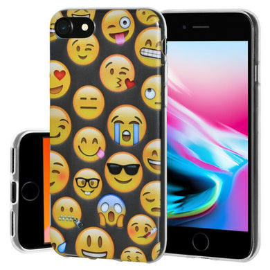 Ultra Thin Protective Cover Soft Gel Shockproof TPU Skin Case Mixed Emotions for iPhone 8 - Clear